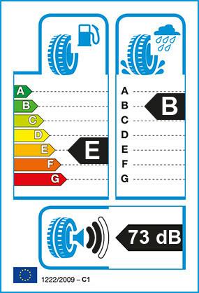 Etiquetage du Pneu Michelin XZH2R