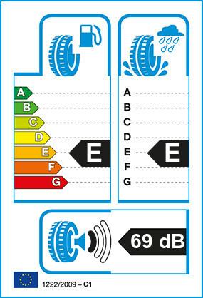 Etiquetage du Pneu Dunlop ECONODRIVE