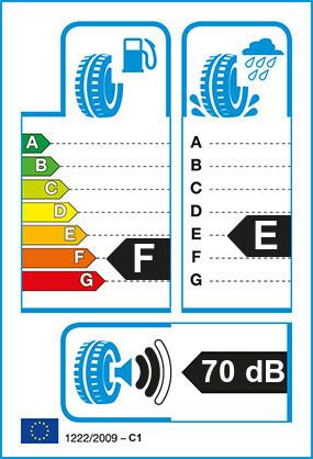 Etiquetage du Pneu Bridgestone TURANZA EL42