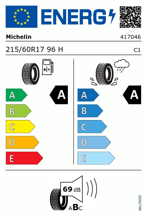 Etiquetage du Pneu Michelin PRIMACY 4