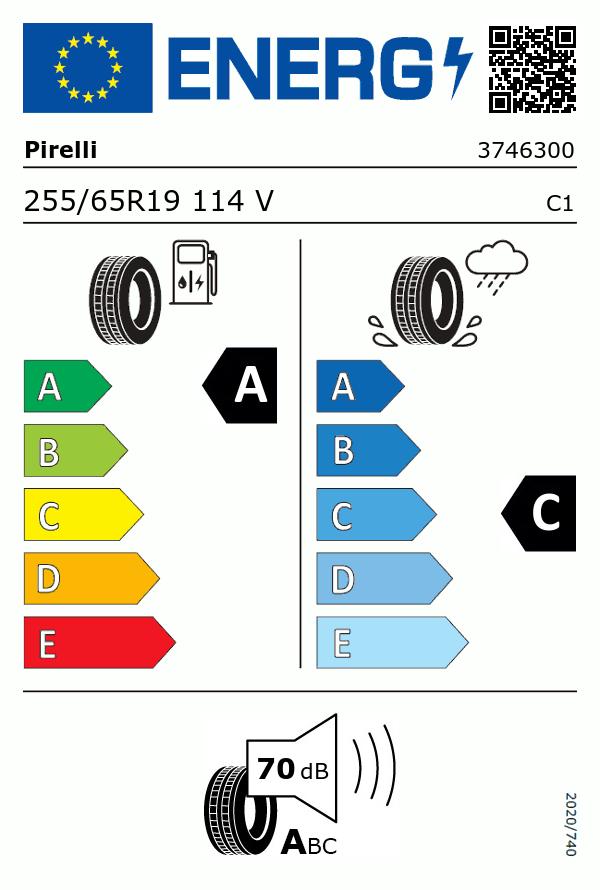 Etiquetage du Pneu Pirelli SCORPION ZERO ALL SEASON