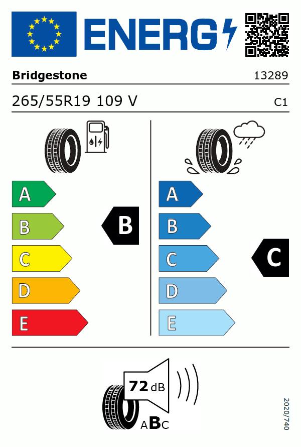 Etiquetage du Pneu Bridgestone DUELER A/T 693 II