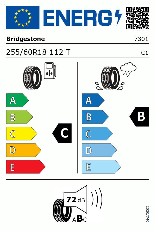 Etiquetage du Pneu Bridgestone DUELER D684 III