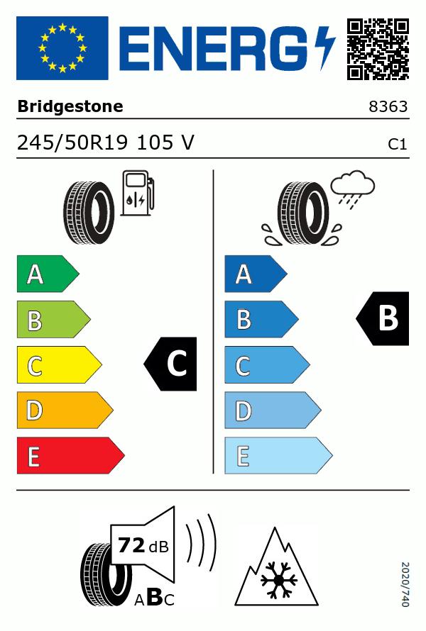 Etiquetage du Pneu Bridgestone BLIZZAK LM001