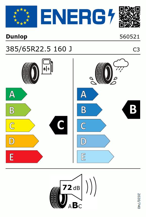 Etiquetage du Pneu Dunlop SP282