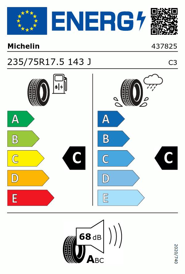 Etiquetage du Pneu Michelin X MULTI T2