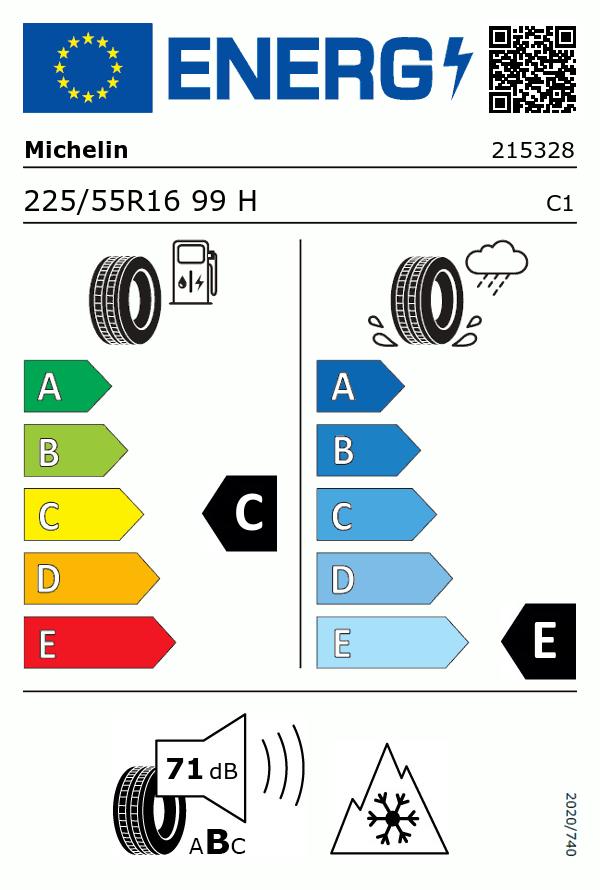 Etiquetage du Pneu Michelin X-ICE Xi3