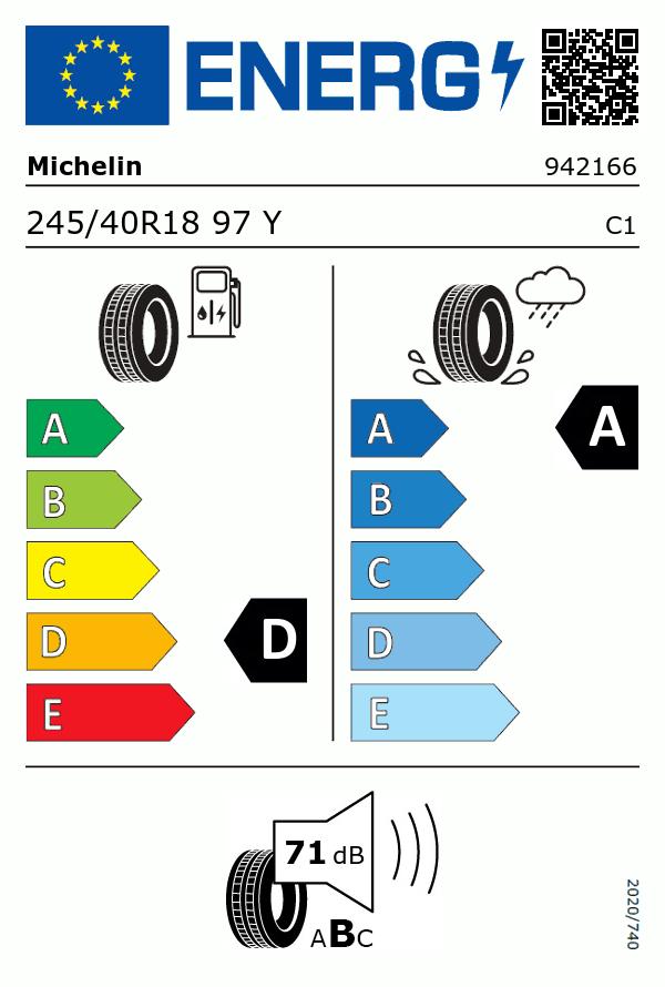 Etiquetage du Pneu Michelin PILOT SPORT 3