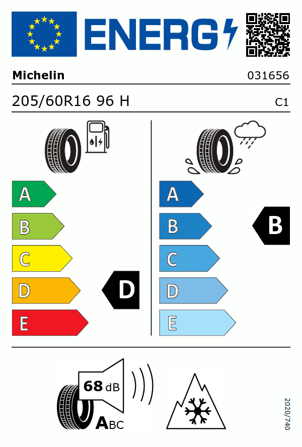 Etiquetage du Pneu Michelin ALPIN 5
