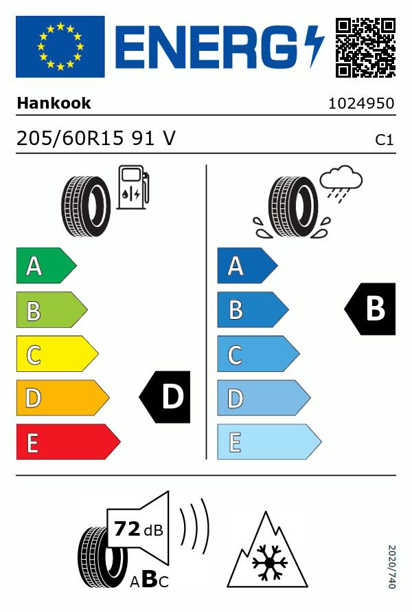 Etiquetage du Pneu Hankook KINERGY 4S 2 H750