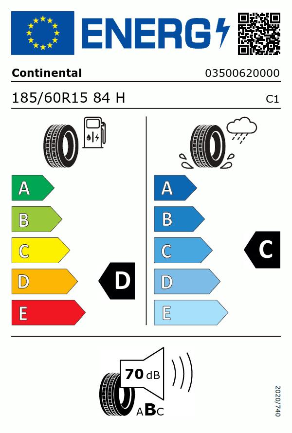 Etiquetage du Pneu Continental Conti Premium Contact 2