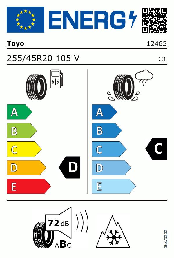 Etiquetage du Pneu Toyo SNOWPROX S954 SUV