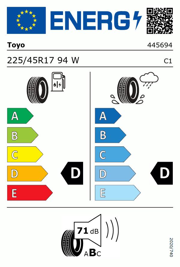 Etiquetage du Pneu Toyo PROXES R888R