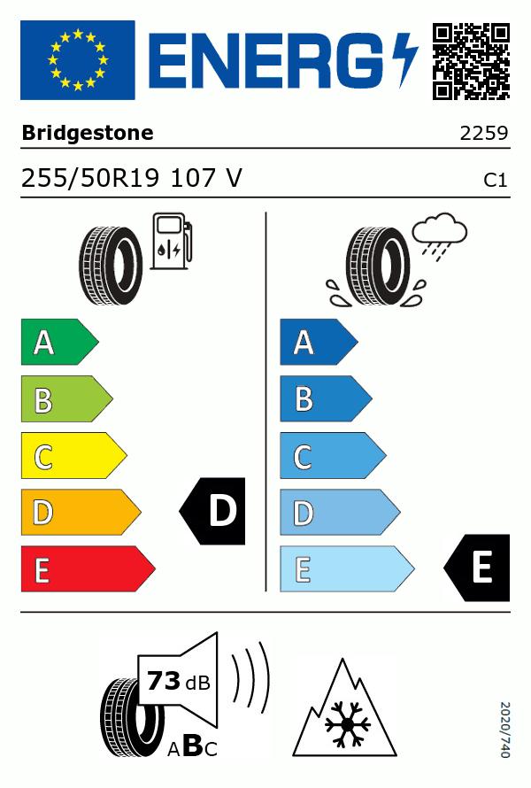 Etiquetage du Pneu Bridgestone BLIZZAK LM25 4X4