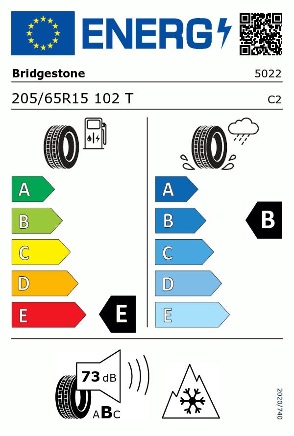 Etiquetage du Pneu Bridgestone BLIZZAK LM-32C
