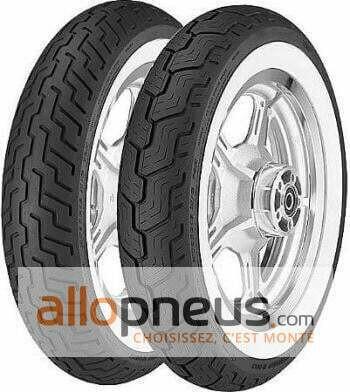 Pneu Dunlop D404 FLANC BLANC